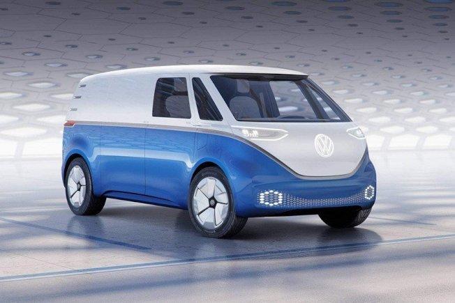 市售版I.D. Buzz Cargo电动厢型车最快将于2021上市。(Volkswagen)