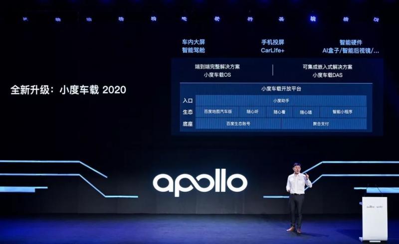 小度车载 OS 在 2019 年升级为小度车载 2020 | 现场拍摄